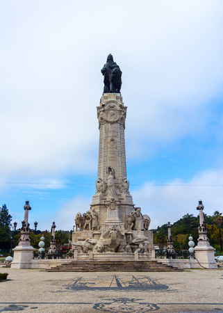 Monument to the Marquis of Pombal in Lisbon, Portugal