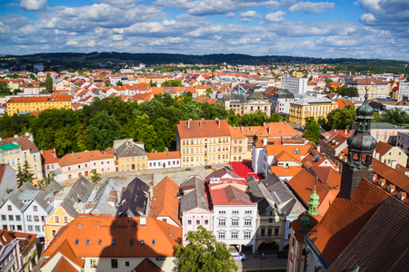 View of Ceske Budejovice from Black Tower, Czech republic