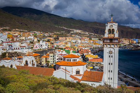 View of Candelaria city. Tenerife island, Spain