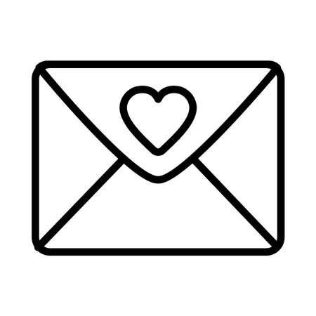 Wedding invitation icon on white background, vector illustration