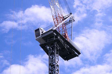 A constrcution crane for skyscrapers