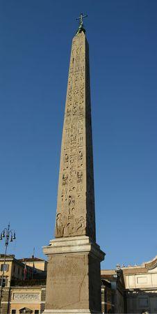 An Egyptian obelisk in Rome