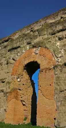Roman aqueduct with renaissance era repairs