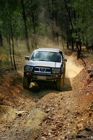 4WD adventure driving in the australian outback photo