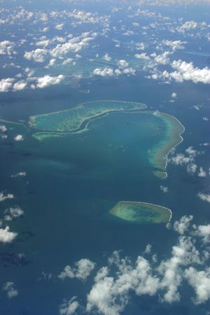 Aerial photo of Hook Reef on the Great Barrier Reef Australia photo