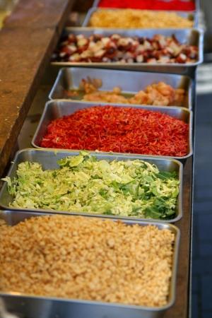 for takoyakitraditional Japanese festival food ingredients for takoyaki