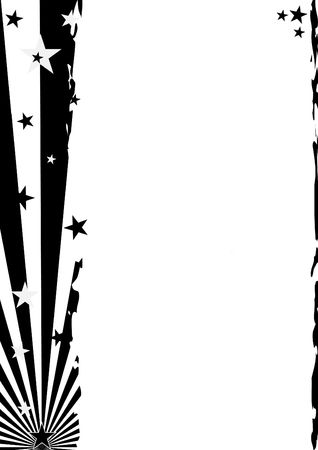 a grunge background with stars and stripes elements