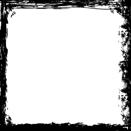A grunge square border in black and white Stock Photo - 4499611