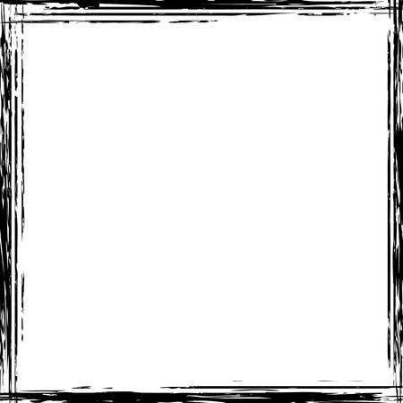A grunge square border in black and white Stock Photo