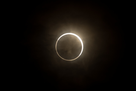 Tokyo, Japan - May 21  Annular eclipse as the moon passes the sun on May 21st 2012 in Tokyo