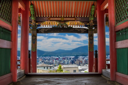View from Kiyomizu-dera Temple in Kyoto Stock Photo - 18576012