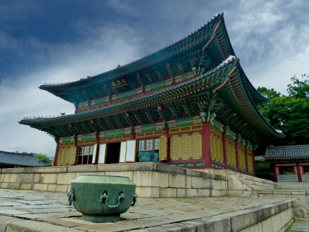 architectural style: Traditional Korean architectural style in Seoul, South Korea Editorial