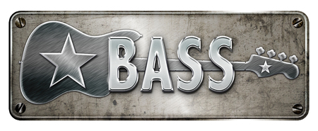 Chromemetallic BASS text on a banner or metal plate image.