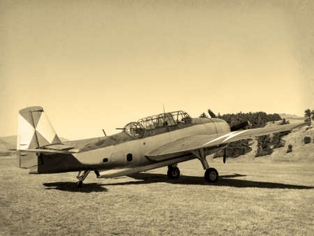 'Vintage Style' image of World of American War 2 Torpedo bomber. First saw combat in 1942