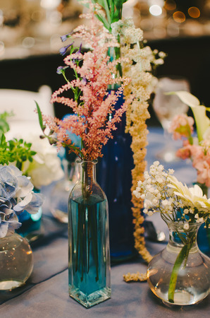 eclectic: Beautiful Eclectic Floral Wedding Centerpiece