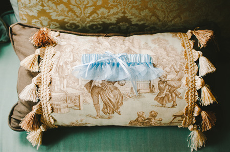 Pastel Blue Bridal Garter
