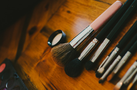 Makeup Brushes Stock Photo