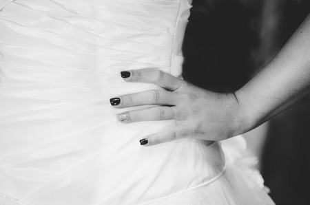 Bridal Hand on Hip