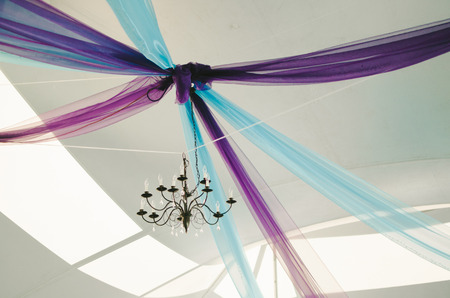 Purple  Blue Wedding Tent Decor