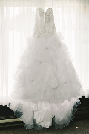 Fairytale Wedding Gown Stock Photo