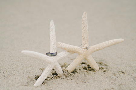 Starfish Wedding Rings