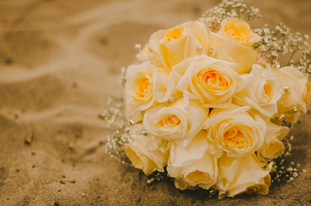 Canary Yellow Rose Bridal Bouquet
