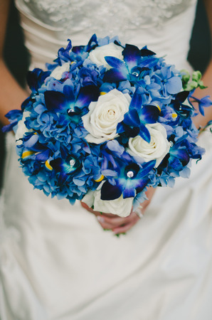Blue Bridal Bouquet
