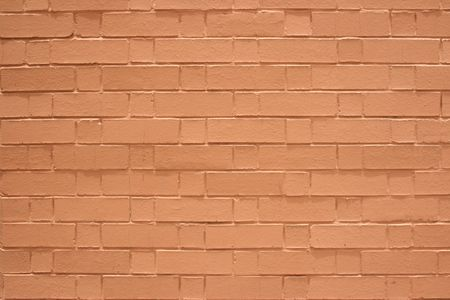 Surface painted with brown color's brick wall