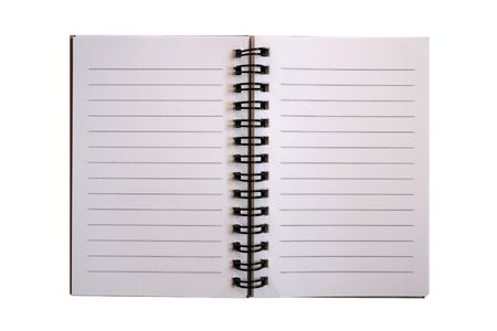 Spiral notepad with lines