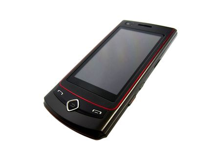 Black mobile phone Stock Photo