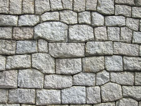 Stone wall textured background in grey color