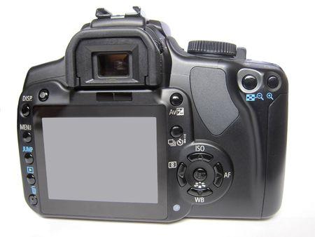 camera close-up back view