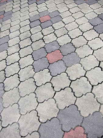 paving surface material tiles Stock Photo