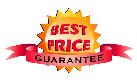 illustration of best price labels isolated on white background Illustration