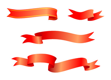 image of red ribbons to use for holidays or special occasions. Stock Vector - 6380881