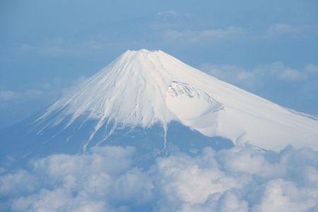 Mountain fuji sky view from japan Stock Photo