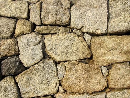 Stone wall textured background in light brown color