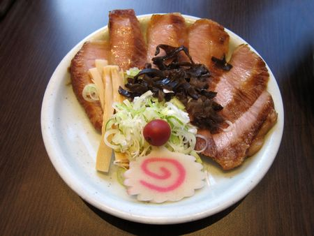 Japanese style pork with vegetable on a plat