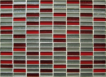 Mosaic in red and gray colors