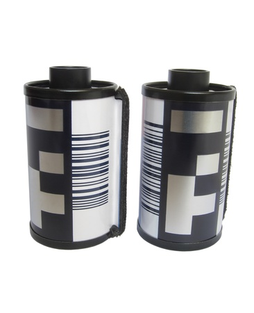 Two 35 mm Camera films Stock Photo
