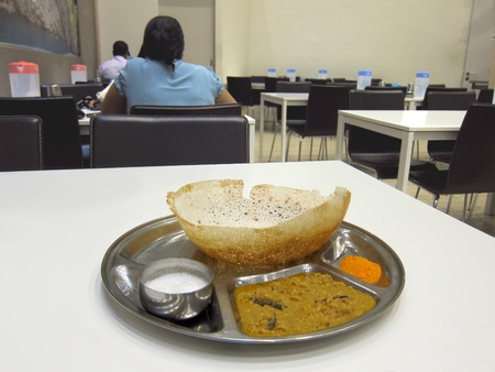 Indian restaurant serving Appam, which is a kind of Hindu dishes Editorial