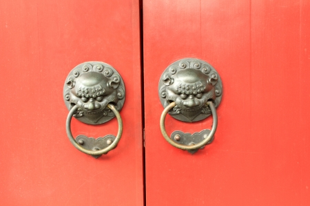 Tradtional asian doors knocker