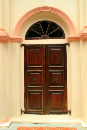 Malay mosque door from Singapore