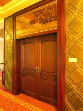 Classic Restaurant wooden door