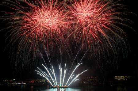 Fireworks, outdoor Landscape Photography at Vivo City