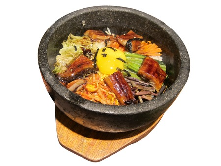 Korean food isolated on the white