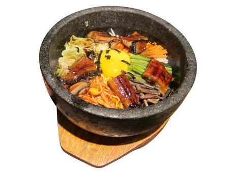 korean food: Korean food isolated on the white