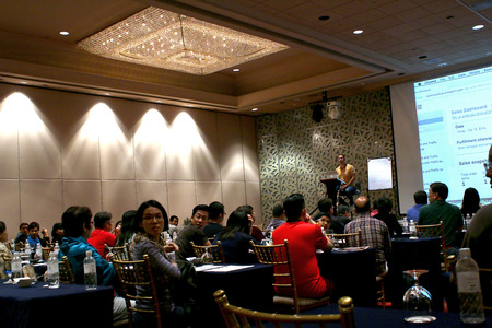 Singapore - Global internet success summit seminar by Adam Ginsberg was held in Mandarin Orchard Hotel Singapore on 10, 11, 12th of Oct 2014; photo taken in 12th Oct 2014.