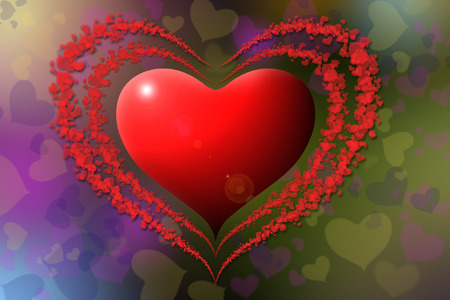Hearts shape with colorful background Stock Photo