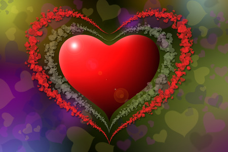 Heart shapes with colorful background